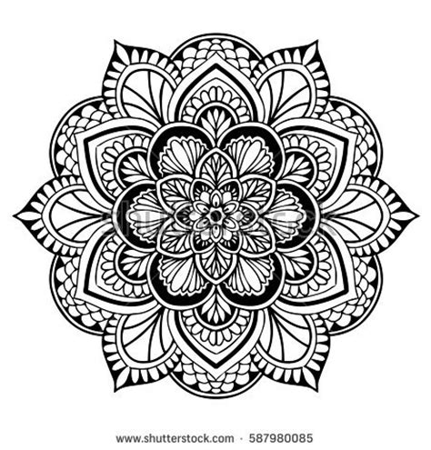 mandala coloring pages vector vector abstract circle mandala style stock vector
