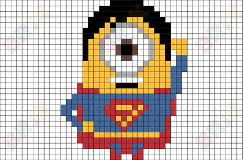Minion Superman Pixel Art ? BRIK