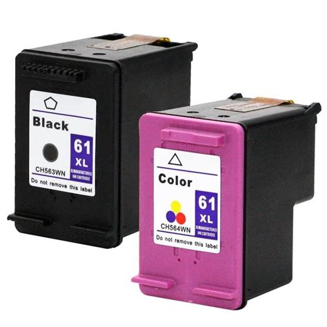 Cartridge Printer 2 pk hp 61 xl ink cartridge ch563wn ch564wn hp61xl new remanufactured ebay