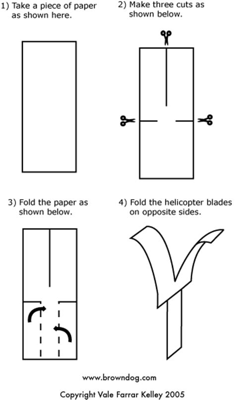 Make Paper Helicopter - browndog paper helicopter