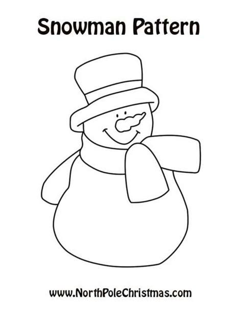 printable template of a snowman printable snowman patterns search results calendar 2015