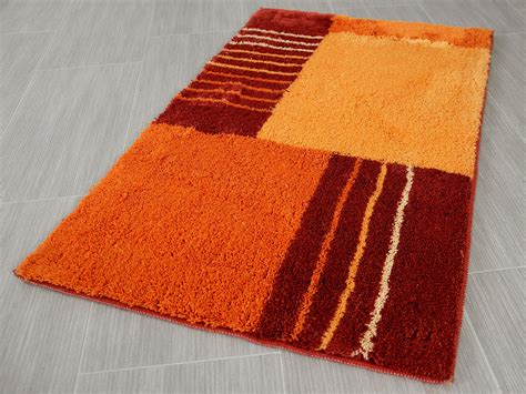 badteppich modern pacific badteppich jemo orange modern abverkauf