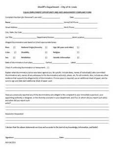 Complaint Letter About An Employee Free Sle Complaint Template 28 Images Customer Complaint Form Freewordtemplates Net 29 Hr Complaint