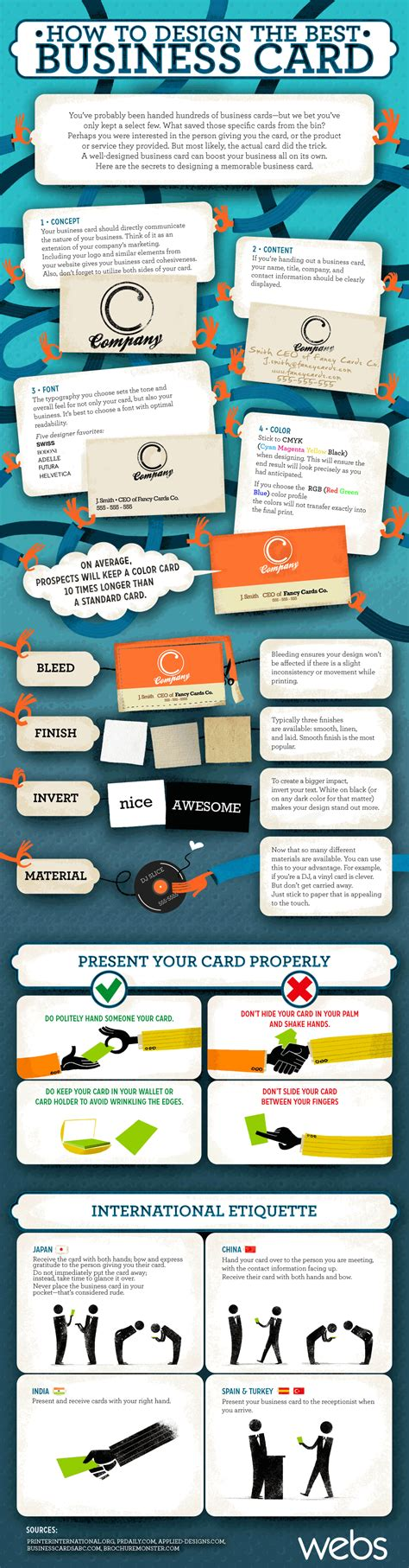 how to make the best business card how to design the best business card visual ly