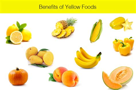 fruit yellow list of yellow fruits and vegetables