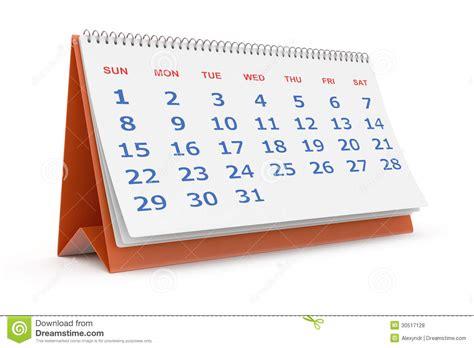 calendrier sur le bureau calendrier de bureau photos libres de droits image 30517128