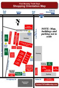 canton flea market map canton area maps