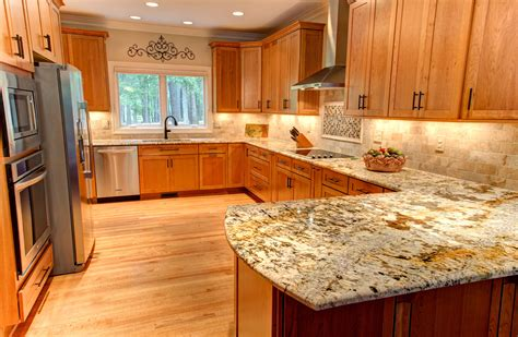 Cheap Renovation Ideas For Kitchen The Structure And Color Of Oak Gallery Maple Kitchen