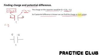 finding charge and potential difference across a capacitor