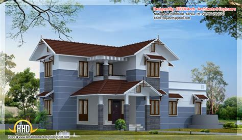 4 bhk sloping roof home design 1850 sq ft kerala home design and floor plans