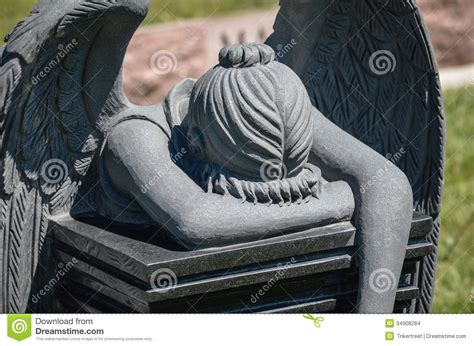 angel tombstone stock photo image of symbol peacee