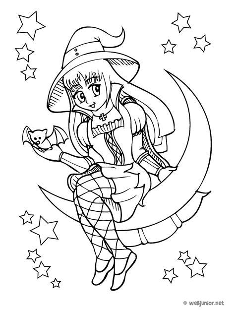 La petite sorcière de la lune : coloriage Mangas gratuit