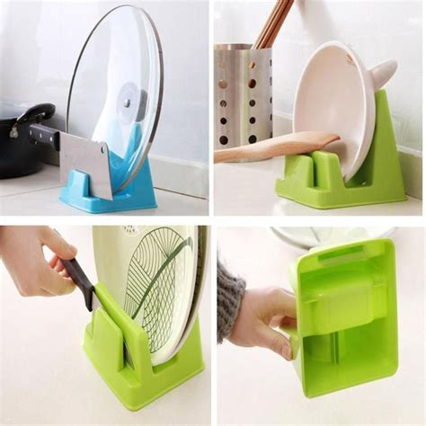Pot Lid Tool kitchen spoon pot lid shelf cooking storage kitchen decor