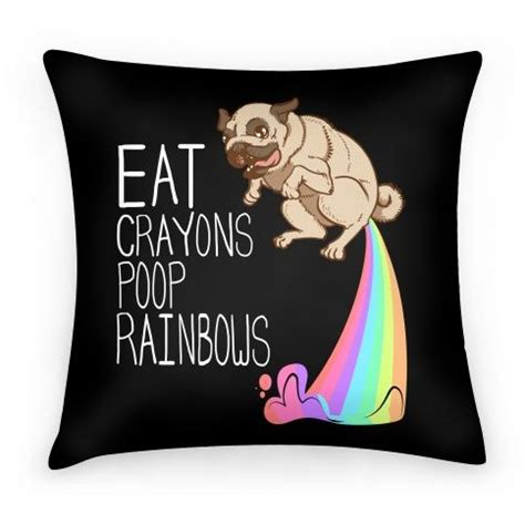 pug i eat crayons and rainbows discover and save creative ideas