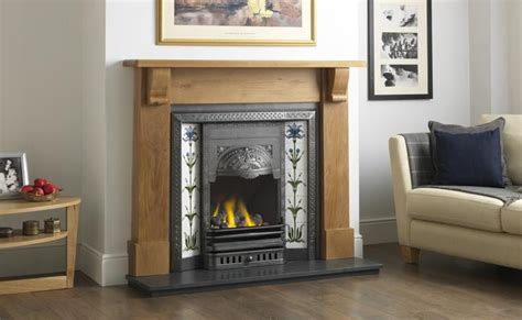 victorian period style high efficient gas fire insert