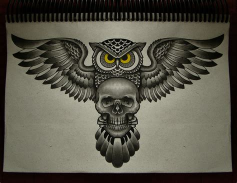 skull owl tattoo the gallery for gt sugar skull owl designs drawings