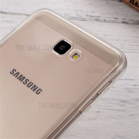 Samsung Galaxy J7 Prime Front Back Clear Tpu Soft Cover Casing clear touchable front back tpu gel for samsung galaxy j7 prime on7 2016 transparent