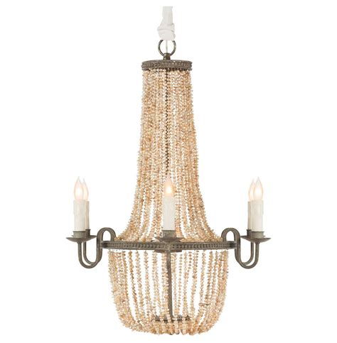 Coastal Chandelier Lighting Rosario Coastal Style Pink Freshwater Pearls 6 Light Chandelier Kathy Kuo Home