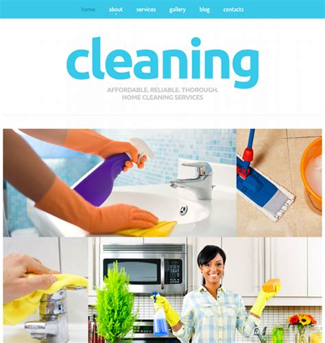 7 Of The Best Joomla Templates For Cleaning Companies Down Housekeeping Website Templates Free