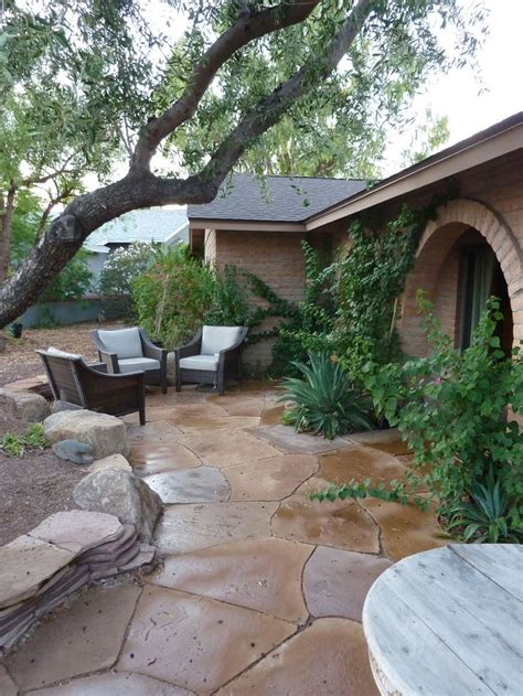 backyard flagstone flagstone patio front or back yard home dreaming