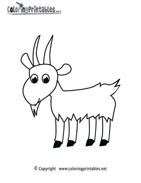 goat coloring pages print goat coloring page printable animal coloring pages