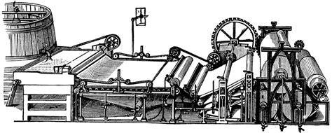 Paper Makeing - paper machine clipart etc