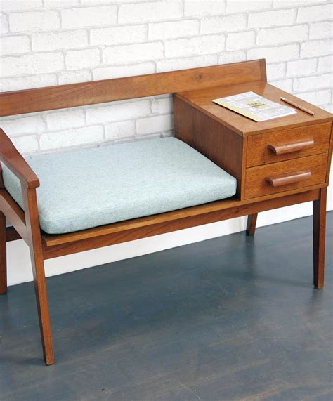 telephone bench mid century telephone table bring it on home