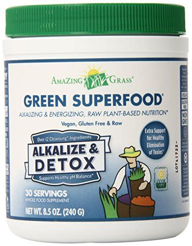 Pros Cons Green Superfood Detox by Amazing Grass Green Superfood Alkalize Detox 30