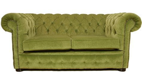fabric settee chesterfield traditional 2 seater settee sofa sage green
