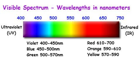 Wavelength Range Of Visible Light by What Color Of Visible Light Has The Shortest Wavelength
