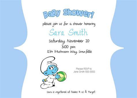 smurfs baby shower invitations invitation ideas