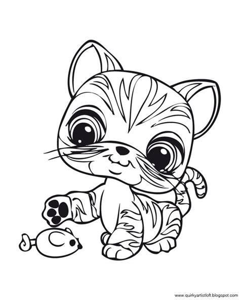 coloring pages for lps quirky artist loft littlest pet shop free printable