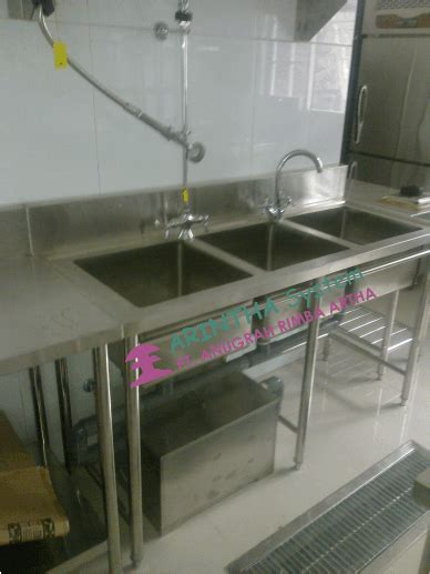 layout dapur katering bowl sink table