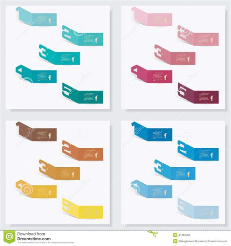 clean graphic design layout collection of number banners template stock vector image