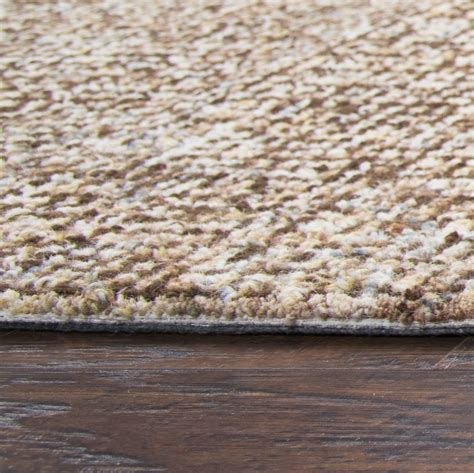 10 X 14 Solid Area Rugs - brindleton solid canvas pattern area rug in brown ivory