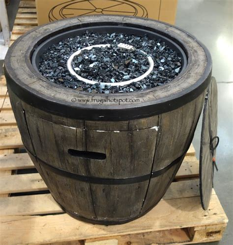 Wine Barrel Patio Table Global Outdoors 27 Wine Barrel Gas Table Costco Frugalhotspot Outdoor Furniture