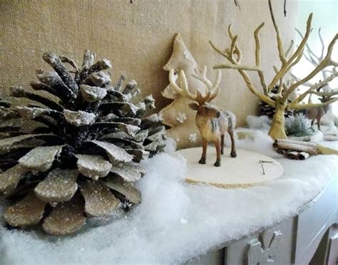 cuisine decoration noel cheminee eucalyptus bougie
