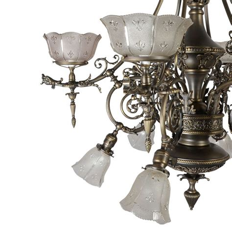 Electric Chandelier Astounding Gas Electric Empire Chandelier C1890 At 1stdibs