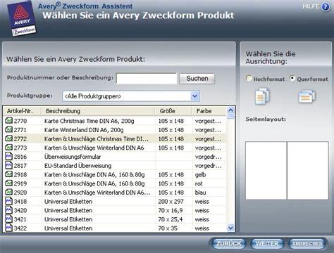 Etiketten Drucken Chip by Avery Zweckform Assistent Etikettendruckprogramm