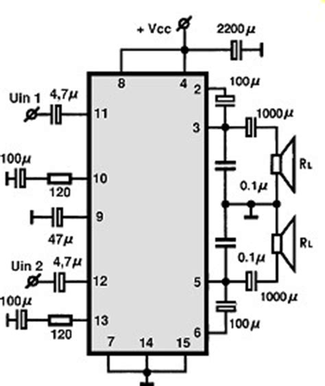 an214 audio integrated circuit data datasheet audio ic electronic circuits tv schematics audio