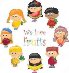 frutas y verduras para ninos ni 241 os de dibujos animados con frutas y verduras vector