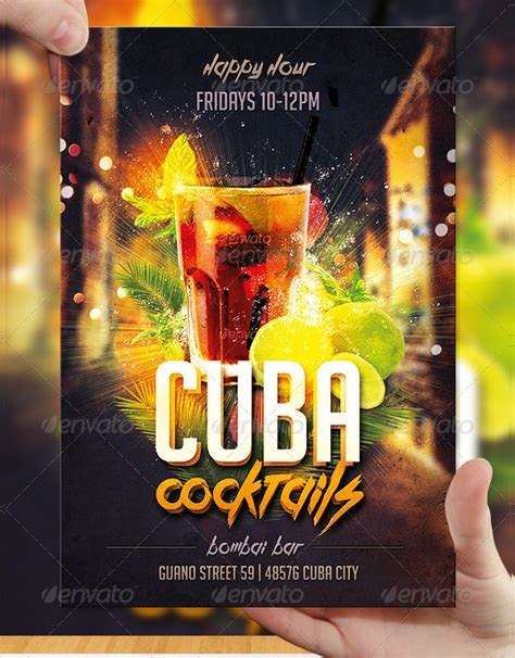 Cocktail Flyer Template Free