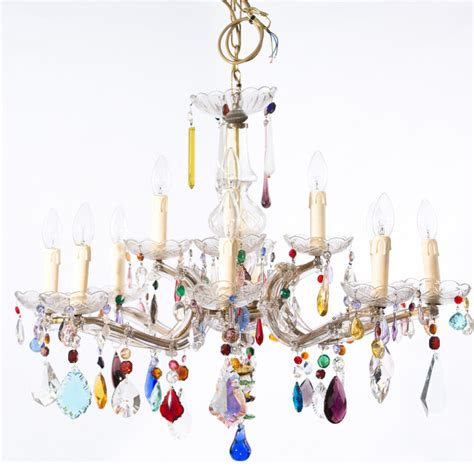 Multi Coloured Chandelier Multi Coloured Chandelier Eclectic Chandeliers By The Vintage Chandelier Company