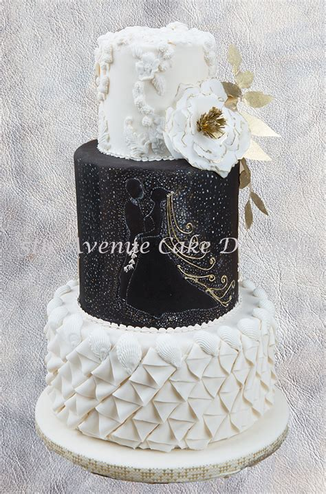 Wedding Cake Black And White Simple by How To Design A Black And White Wedding Cake