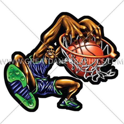 Kickers Slamdunk Fullblack slam dunk production ready artwork for t shirt printing