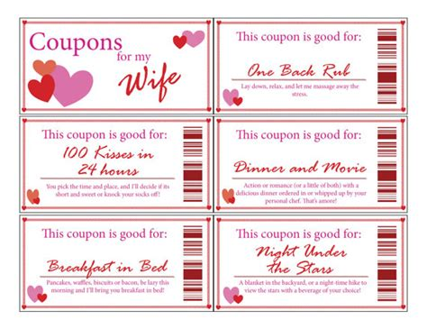 coupon book for husband template coupon bookprintabledigitalstocking