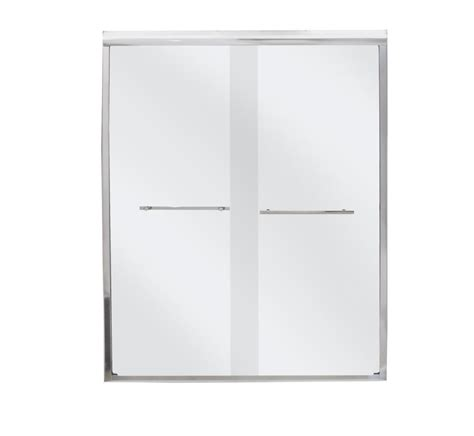 Mirolin Shower Door Parts Mirolin Frameless By Pass Shower Door Bd44ps The Home Depot Canada
