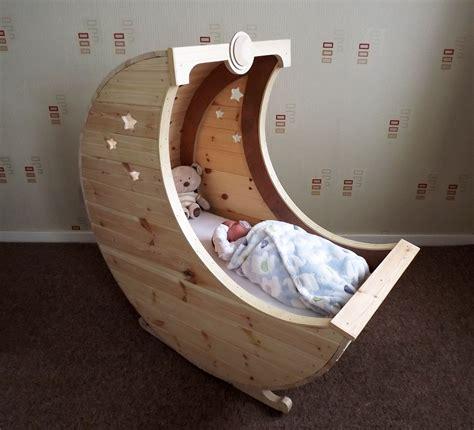 Moon Cot Baby Cradle Rainbow - tudor carpentry shrewsbury moon shaped baby crib cot