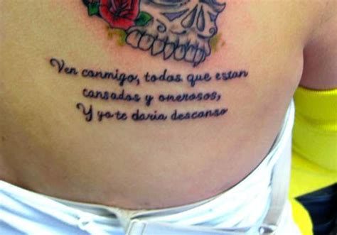 tattoos in spanish 26 pious holy scripture tattoos for 2013 creativefan