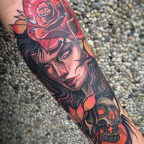 neo traditional tattoo by isnard barbosa